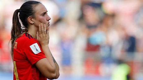 Spain international Virginia Torrecilla has had her say in a social media row about women's football © Phil Noble / Reuters