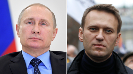 (L) Vladimir Putin. © Sputnik; (R) Alexei Navalny. © Reuters / Maxim Shemetov