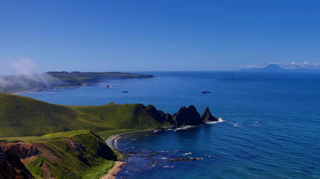Cape Vasin, Urup Island in the southern group of the Great Ridge of the Kuril Islands, Sakhalin Region, Russia, September 4, 2019