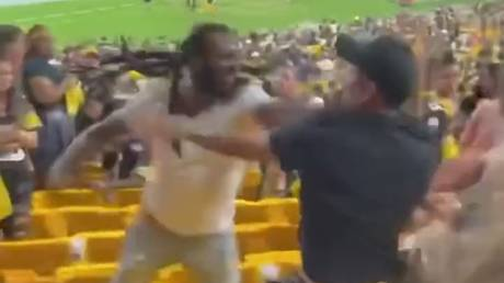 A brawl broke out at Heinz Field on Saturday. © Twitter / @CLEtroyjames