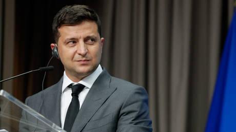 Ukrainian President Volodymyr Zelensky. © AFP / STEPHANIE LECOCQ