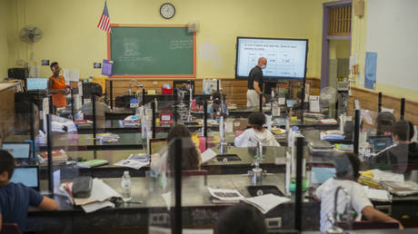 FILE PHOTO. Caroline G. Atkinson School in Freeport, New York. © Getty Images / Reece T. Williams