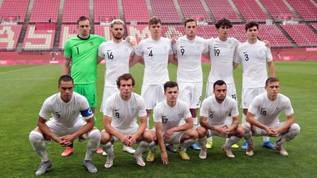 The New Zealand men's football team at the recent Tokyo Olympics. © Reuters