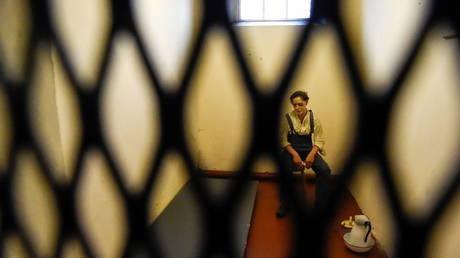 FILE PHOTO. An exhibit at Crumlin Road Gaol, a Victorian era prison opened in 1846 and shut in 1996. ©REUTERS / Clodagh Kilcoyne