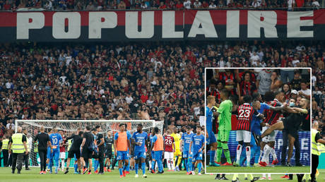 There were riotous scenes when Nice and Marseille met in the French Ligue 1 © Eric Gaillard / Reuters