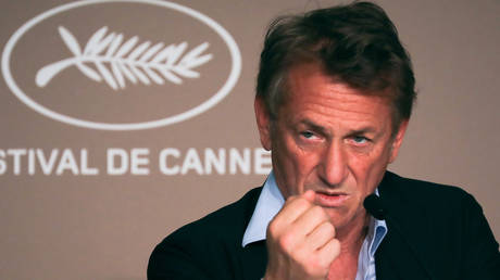 Sean Penn at the 74th Cannes Film Festival promoting 'Flag Day'