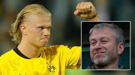 Erling Haaland (left) is said to have made sizeable demands of Chelsea and Romab Abramovich © Leon Kuegeler / Reuters   © John Sibley / Livepic / Action Images via Reuters