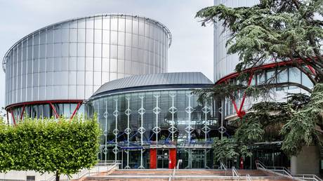 FILE PHOTO. A view shows the building of European Court of Human Rights, in the European Quarter of Strasbourg, France. July 27, 2021