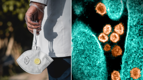 (L) © Unsplash / Ashkan Forouzani; (R) SARS-CoV-2. © AFP / National Institute of Allergy and Infectious Diseases