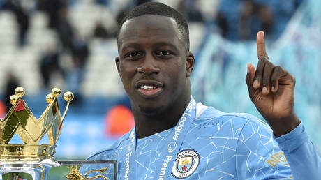 Manchester City's Benjamin Mendy is a three-time Premier League champion © Peter Powell / AFP