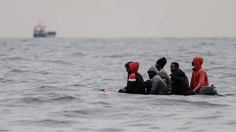 A migrant boat off the European shores. © AFP / Sameer al-Doumy