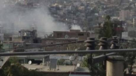 The scene of an explosion in Kabul, Afghanistan, August 29, 2021 © Asvaka News Agency
