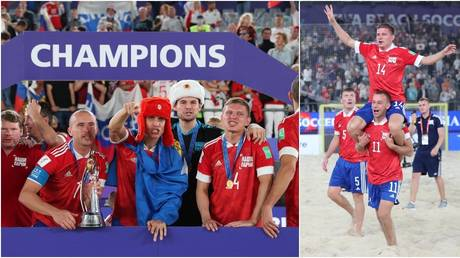 The Russian Football Union team won the FIFA Beach World Cup on Sunday. © Reuters