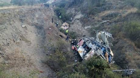 At least 29 killed as bus plunges off a cliff in Peruvian Andes (VIDEO)