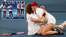 'I can't believe it': Ace Pavlyuchenkova's dreams come true after winning all-Russian Olympic final despite medal mix-up (VIDEO)
