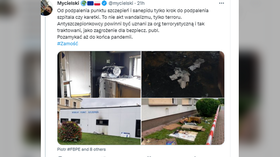 'Act of terror': Polish minister condemns arson attack on vaccination site, vows to fight threats against health officials
