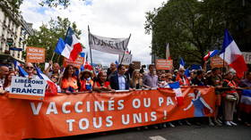 French firefighters' & hospital unions declare strikes against 'unconstitutional' vaccination mandate