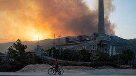 Wildfire surrounding Turkish power plant brought under control after evacuation as country continues to battle multiple blazes