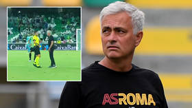 No Mour: New Roma boss Jose Mourinho SENT OFF as he invades the pitch during ill-tempered friendly loss to Real Betis (VIDEO)