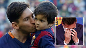 'Haven't you seen him?' Messi's father Jorge confirms heartbroken icon will sign for PSG today as he arrives for flight (VIDEO)