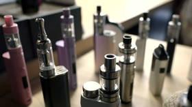 Nicotine, an addictive drug