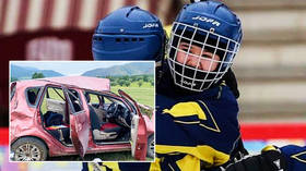Hockey ace dies at age of 14 after losing control on highway and wrecking car in crash that hospitalized three child passengers