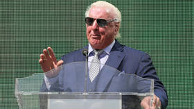 'Nature boy doesn't ride trains': 72yo wrestling icon Ric Flair denies he gave woman oral sex in transit as sordid snap circulates