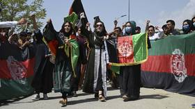 Protests against the Taliban spread to Kabul, as people march along the streets with Afghan flags