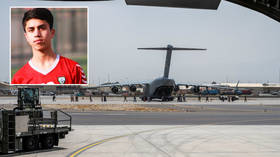 Afghanistan youth international footballer dies after being crushed by the wheels of the US plane he clung to in attempt to flee