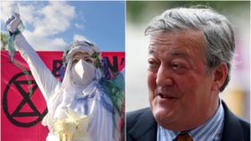 Another rich 'eco-loon'? Stephen Fry takes heat for backing XR protest in London demanding end to fossil fuel investment