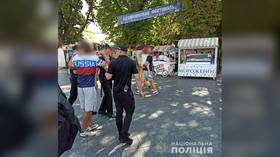 American man wearing 'Russia' shirt detained in Ukraine ahead of Independence Day festivities, claims country's cops are 'Nazis'