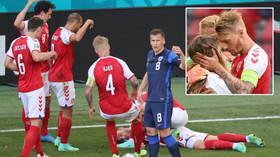 Denmark skipper Kjaer given UEFA award for heroics as Christian Eriksen thanks medical team for 'saving his life' at Euro 2020