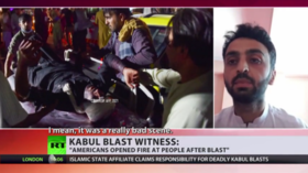 Chaos, tears, and stampede: Witness of Kabul airport blast tells RT what he saw as he was trying to save his family members