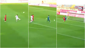 'All the blame is with the goalkeeper': 'Poetic' comedy goal scored in first ever Spanish third flight game goes viral (VIDEO)