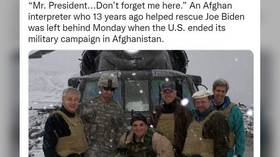 Afghan interpreter who 'helped save Biden' in 2008 pleads for rescue after being left behind