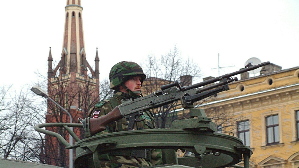 Latvian military apologizes for GUNFIRE in busy streets of Riga which left civilians terrified amid major NATO war games (VIDEOS)
