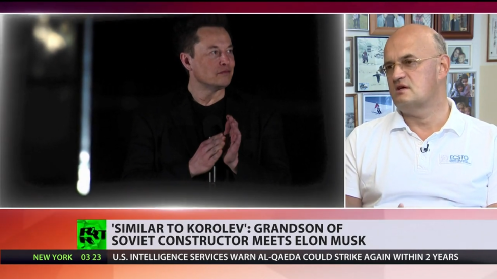 , 'Every day SpaceX people walk past photo of my grandad': Descendant of Sergey Korolev talksto RT about meeting Elon Musk (VIDEO), The World Live Breaking News Coverage & Updates IN ENGLISH