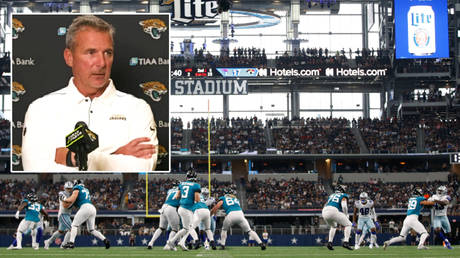 Urban Meyer has discussed the impact of vaccinations on the NFL roster © YouTube / Jacksonville Jaguars | © Tim Heitman / USA Today Sports via Reuters
