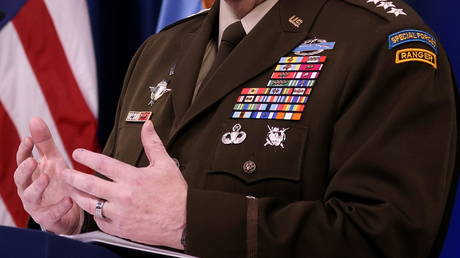 Joint Chiefs Chairman General Mark Milley speaks at the Pentagon, September 1, 2021.
