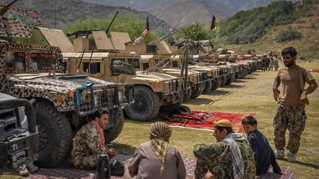 FILE PHOTO. Afghan armed men in Panjshir province. ©Ahmad SAHEL ARMAN / AFP
