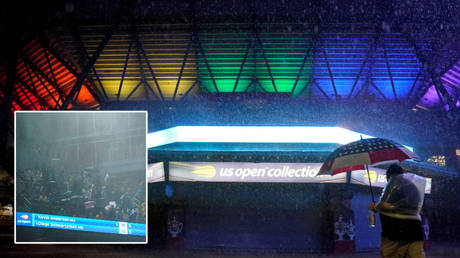 Fans have braved torrential conditions at the US Open tennis © Danielle Parhizkaran / USA Today Sports via Reuters