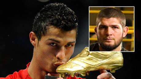 Khabib Nurmagomedov (right) and Cristiano Ronaldo © Instagram / khabib_nurmagomedov | © Toby Melville / Reuters