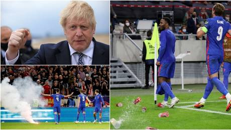 Boris Johnson spoke out after alleged racist abuse of England players in Hungary. © Reuters