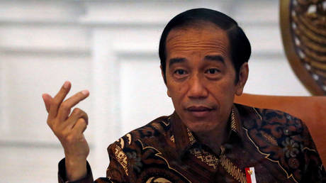FILE PHOTO: Indonesian President Joko Widodo gestures during an interview with Reuters at the presidential palace in Jakarta, Indonesia, November 13, 2020. © REUTERS/Willy Kurniawan
