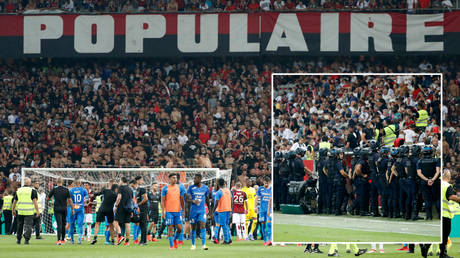 Trouble erupted when Nice played Marseille in France © Eric Gaillard / Reuters