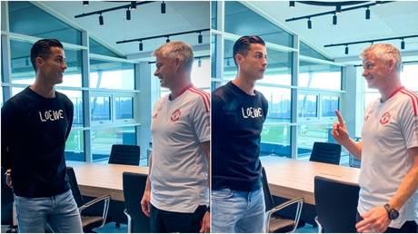 Cristiano Ronaldo has reported to Manchester United training. © manutd.com