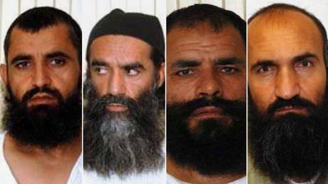 Abdul Haq Wasiq (L), Norullah Noori, Mohammad Fazl, Khairullah Khairkhwa. © Wikipedia