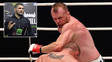 Khabib announced the bout featuring former Bellator star Shlemenko. © Sputnik / RT Sport