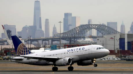 File photo: A United Airlines passenger jet takes off from Newark Liberty International Airport, New Jersey, December 6, 2019.