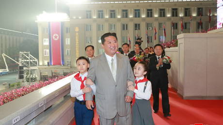 North Korea leader Kim Jong Un attends parade held to mark the founding anniversary of the republic at Kim Il Sung square in Pyongyang